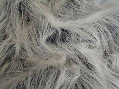 LONG Pile Fun Faux Fur Fabric Material - BLACK FROST