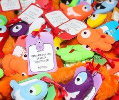 Monster Party Give Away Lembrancinha perfeita para festa com tema monstros. Mini Chaveiros, diversão garantida!!