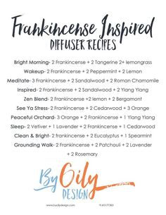 10 Frankincense Diffuser blends you will love to try. Enjoy the benefits of Frankincense by diffusing these 10 amazing diffuser blends.