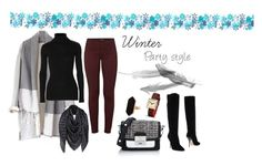 """""""Winter party style"""" by evelyn-andrea on Polyvore featuring moda, Autumn Cashmere, J Brand, Louis Vuitton, Jimmy Choo, Karl Lagerfeld, Jaeger y Newgate"""