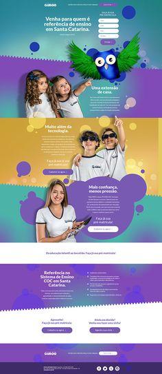 Guroo - Hotsite Matrículas 2015 on Behance