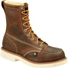 804-4378 Thorogood Men's SR Safety Boots - Brown www.bootbay.com
