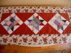Quilted Table Runner Table Topper Table by ForgetMeNotQuilteds