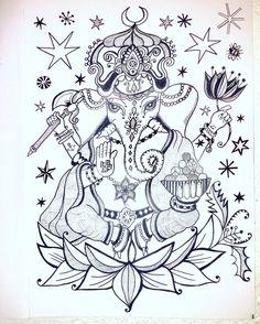 Ganesh illustration by Lizzie Reakes