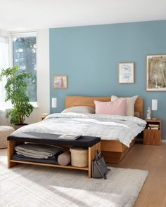 LAMBERT Bett India Home Decor, Home Office Decor, Home Decor Bedroom, Bedroom Designs India, Bedroom Wall Colors, Apartment Living, Interior Design, Stabil, Sweet