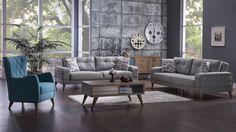Vienza Koltuk Takımı - Bellona Mobilya Sofa Furniture, Modern Furniture, Outdoor Furniture Sets, Furniture Design, Living Spaces, Living Room, Metal Chairs, Decorating Blogs, Sofa Set