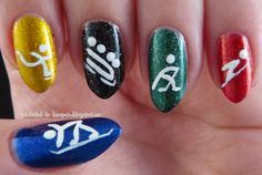 Winter Olympics 2014 Manicure - Addicted to Lacquer