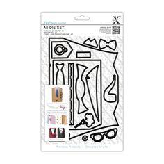 A5 Die Set (16pcs) - Suit Card | docrafts.com