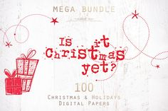70% OFF Christmas Patterns Bundle by The Paper Town on @creativemarket