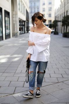 ca256255102b9 Off-Shoulder Tops are a MUST this season. Here a 5 different ways to wear a Bardot  Top
