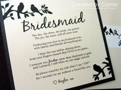 how to ask your bridesmaid