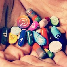 """Which """"social media pill"""" is your addiction? Art by IG user aliossayran ti. Kreative Portraits, Social Media Art, Addiction, Satirical Illustrations, Meaningful Pictures, Political Art, Photocollage, Medium Art, Surreal Art"""
