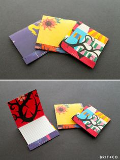 notebook - these are fun and artsy. Use graph paper, lined or unlined paper, or a mix.