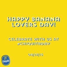 Happy Banana Lovers Day! Celebrate with us by sharing your love of bananas with the world!