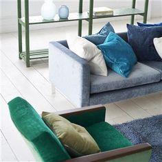 zaragoza - aqua fabric | Designers Guild Essentials