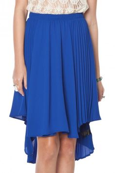 Tati pleated asymmetrical skirt