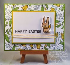 Chelsea's Creative Corner: Happy Easter ... Look how the A Muse Studio Egg Stamp was used as a background!!!
