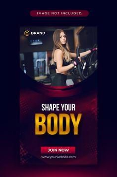 Instagram Banner, Facebook Instagram, Web Banner, Banner Template, Sports Templates, Fitness Flyer, Instagram Story Template, Gym Workouts, Social Media