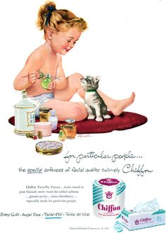Fritz Willis art, Chiffon bathroom tissue ad 1953