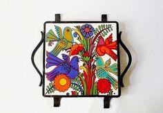 Vintage Villeroy and Boch Ceramic Trivet Accapulco Design. €20,00, via Etsy.