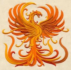Fiery Phoenix | Urban Threads: Unique and Awesome Embroidery Designs