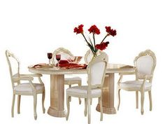 """Camelgroup Rosella Dining Table - Rosella Dining Table  w/18"""" Extension. Dimensions: 72""""x 42""""x 31""""."""