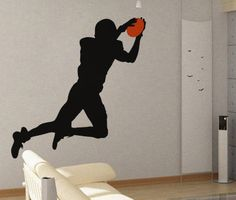 Football Player 3 - uBer Decals Wall Decal Vinyl Decor Art Sticker Removable Mural Modern A383 on Etsy, $26.97