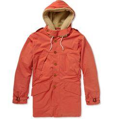 Gant Rugger Faux Fur-Lined Cotton-Blend Coat   MR PORTER