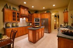 Daniel Wayne Homes, custom home builder in Fort Myers, Florida, River Glen model kitchen
