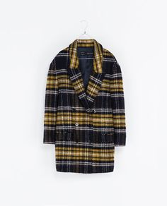 CHECKED WOOL COAT - Blazers - Woman - New collection   ZARA United States