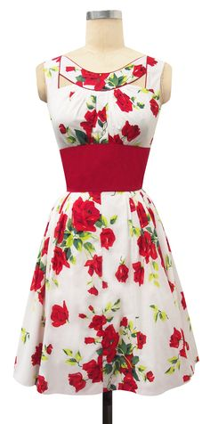 The Trashy Diva Orlando Mini Dress in Red Roses is a steal at 50% off the original price!