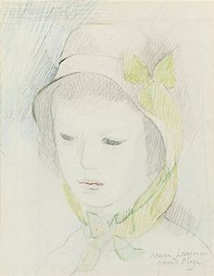 Marie Laurencin, HEAD OF A YOUNG LADY