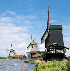 #Windmill - Zaanse Schans, Zaandam, #Holland (Photo: Holland.com) http://dennisharper.lnf.com/