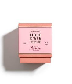Bastide Figue d'Ete wax scented candle is perfect for gifting or home decor. Made with handblown glass, its natural fragrance of fig calms after a stressful day Candle Packaging, Print Packaging, Box Packaging, Coffee Packaging, Makeup Package, Beauty Packaging, Packaging Design Inspiration, Logo Inspiration, Scented Wax