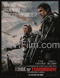 Edge Of Tomorrow 2014 15.75x21 French Petite Movie Poster