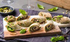 Lefserull med spekeskinke Tapas, Scampi, Snacks, Fresh Rolls, Pesto, Sushi, Buffet, Food And Drink, Baking