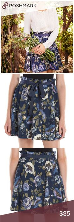 LC Lauren Conrad Floral Circle Skirt NWT LC Lauren Conrad Floral Circle Skirt will  give you a feminine, yet modern flair!  *S (4-6), M (8-10), L (12-14), XL (16-18).      Textured design adds interest Paperbag waistline for a trendy look Unlined, grosgrain ribbon sash 18-in. approximate length Elastic waistband Cotton, polyester, spandex Machine wash Textured design adds interest  *Bundle Discounts * No Trades * Smoke free LC Lauren Conrad Skirts Circle & Skater