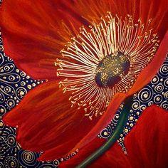 Red Velvet Poppies Art Print by Cherie Roe Dirksen