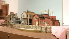 This is part of my new layout called Red Hook Wharf it's got a long way to go.