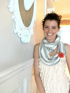 DIY fall scarf