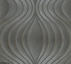 Tapiz de Luigi Colani con diseño de lineas onduladas en tonos metálicos. #TapizGenial #PapelTapiz #TapizGenialGuatemala #LuigiColani