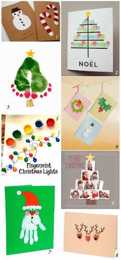 DIY: Xmas cards for kids DIY: felicitaciones navideñas Craft Christmas Presents, Christmas Crafts For Kids To Make, Homemade Christmas Cards, Christmas Activities, Holiday Crafts, Christmas Holidays, Christmas Decorations, Blog, Ideas