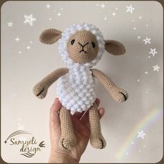 Amigurumi related to each other, we continue to share with each other. In this article amigurumi sheep free crochet pattern is waiting for you. Crochet Panda, Crochet Sheep, Kawaii Crochet, Crochet Amigurumi Free Patterns, Easter Crochet, Crochet Patterns Amigurumi, Crochet Dolls, Free Crochet, Beginner Crochet Tutorial