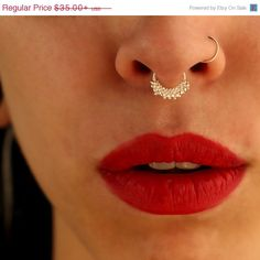 On sale Silver septum Indian style gold  septum jewelry by Alagia