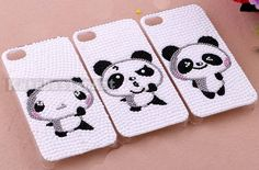 iphone 4s case, handmade iphone 4 cases iphone cover skin iphone 5 case - lovely panda iphone 4 cases