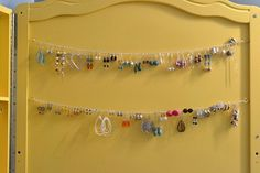Earring display.  This might be the answer to my problem!!