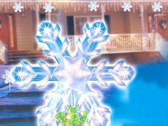 f7ad384225a3 Clear Lighted Twinkling Christmas Snowflake Tree Topper Or Pathway Marker:  Home & Kitchen