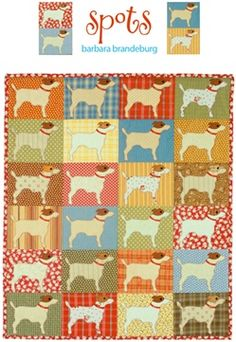 Spots applique quilt pattern $9.00 by Barbara Brandeburg @Pam Pedersen