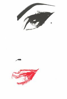 David Downton collaborates with Burlesque superstar Dita Von Teese on a 'Fashion Against Aids T-shirt', for H&M.