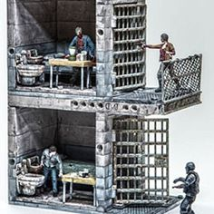The Walking Dead Upper and Lower Prison Cell Construction Set @ niftywarehouse.com #NiftyWarehouse #WalkingDead #Zombie #Zombies #TV